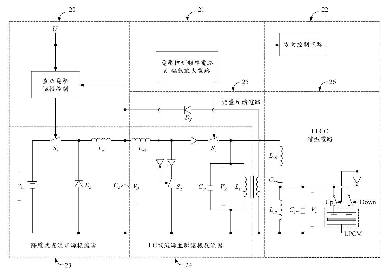 lpcm之速度命令,控制升压式直流电源换流器之输出直流电压值;串联谐振